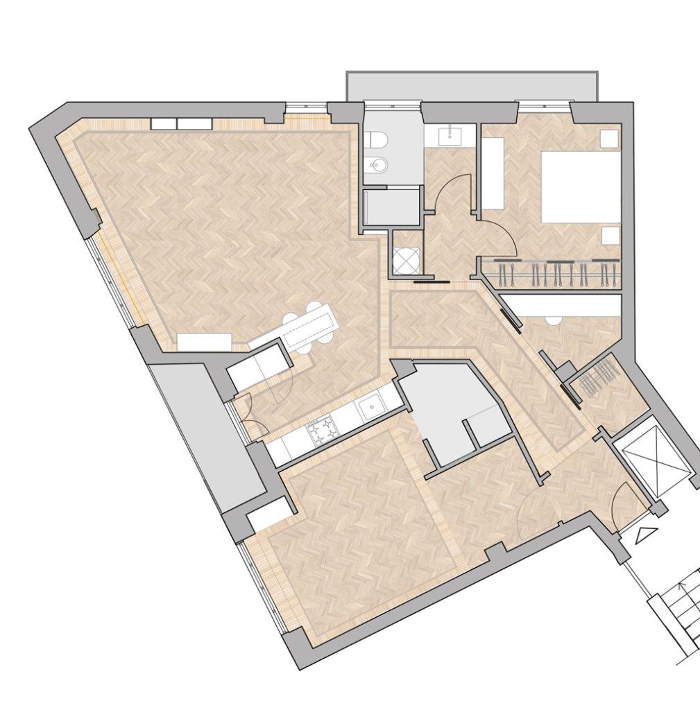 plan de dessin de l'appartement