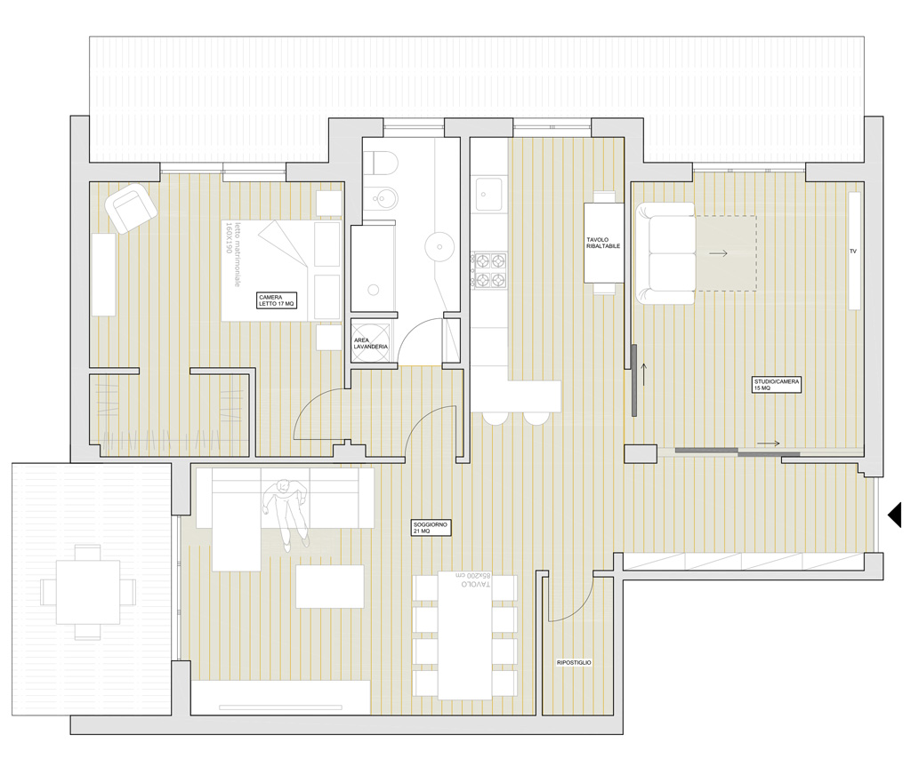 appartement plan de rénovation sara ranieri architecte